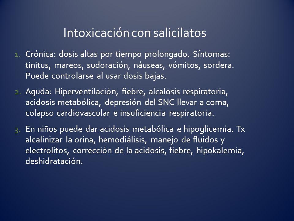 Intoxicación con salicilatos