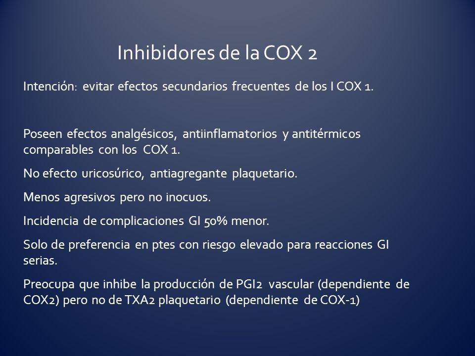 Inhibidores de la COX 2