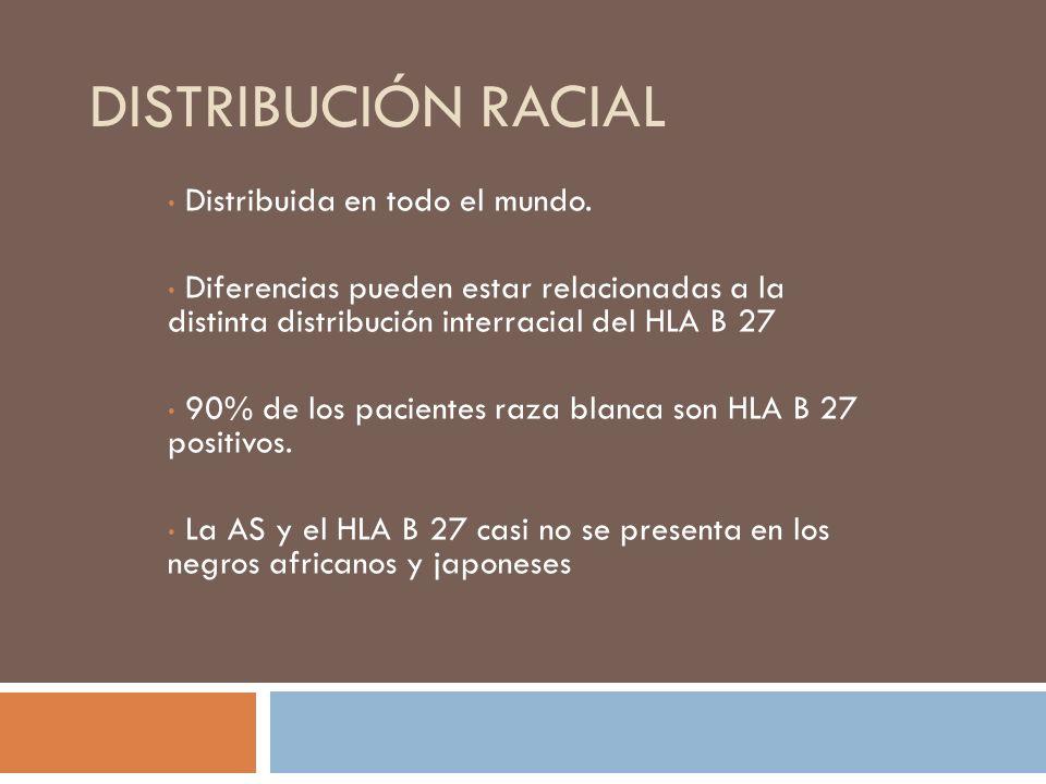 Distribución racial Distribuida en todo el mundo.