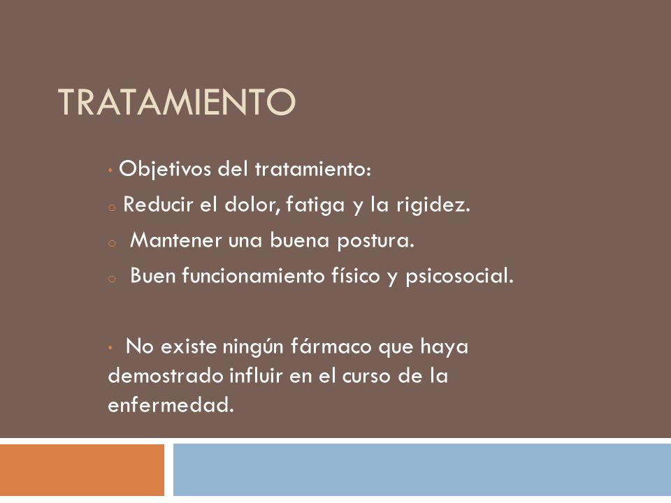 Tratamiento Objetivos del tratamiento: