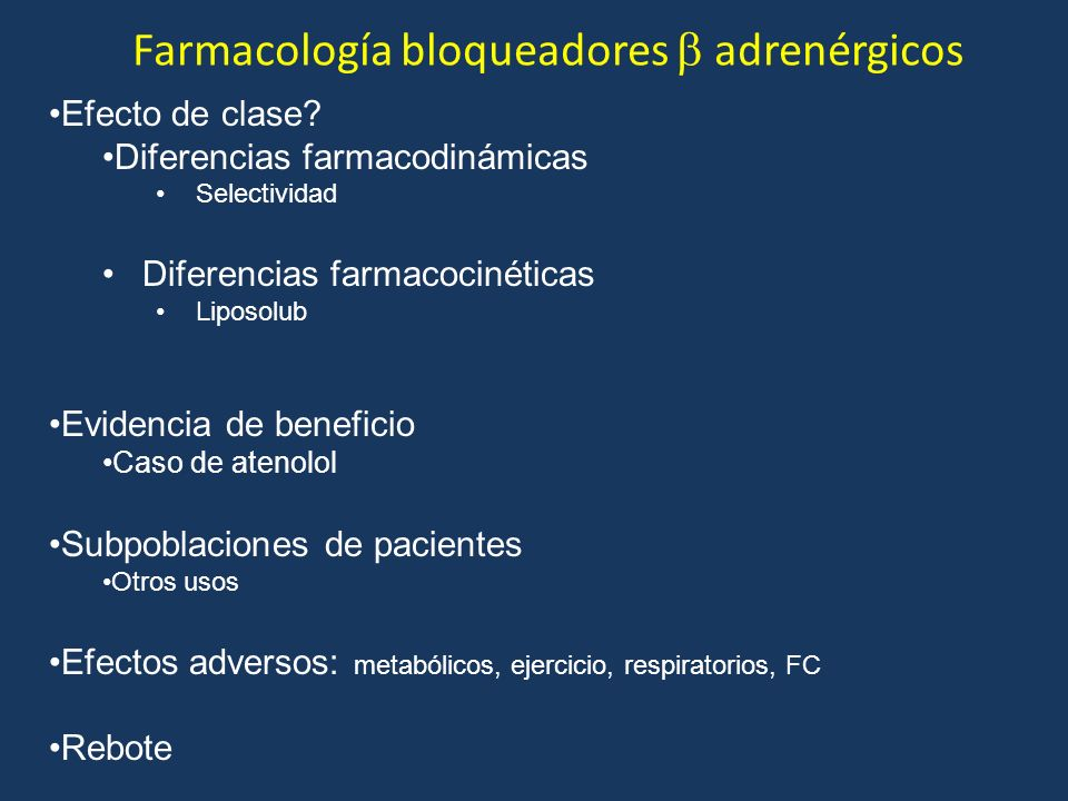 Farmacología bloqueadores  adrenérgicos
