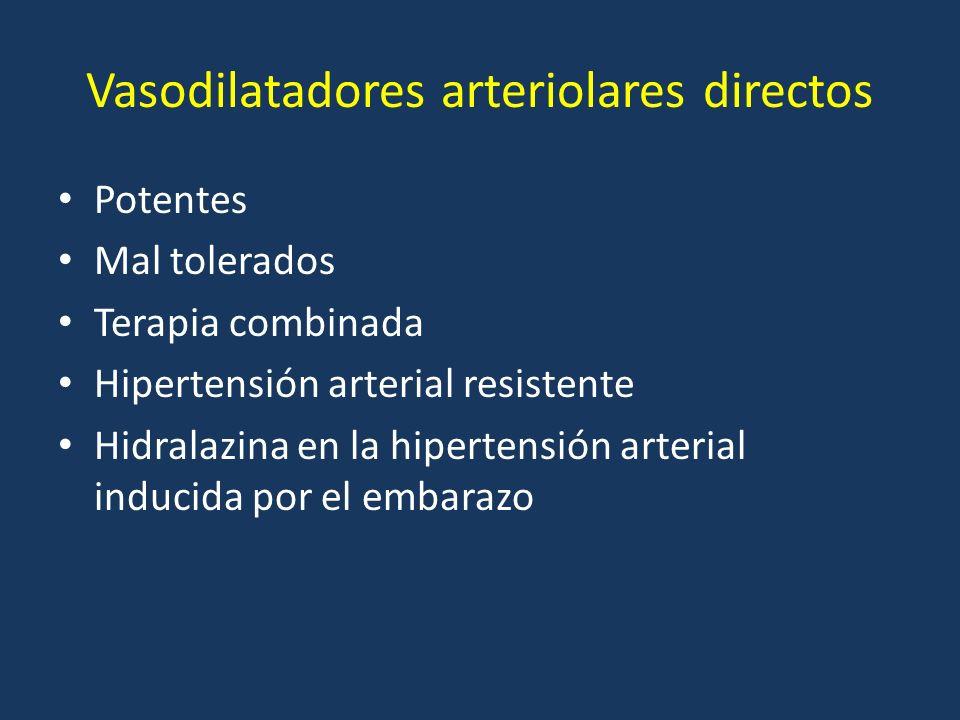Vasodilatadores arteriolares directos