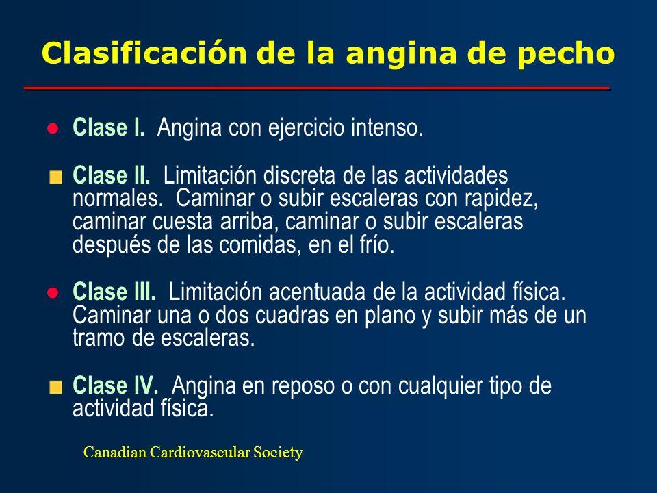 Clasificación de la angina de pecho