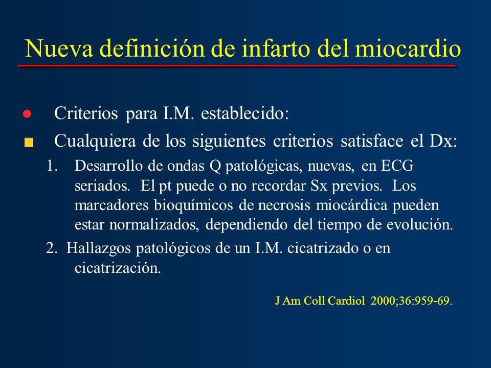 Nueva definición de infarto del miocardio