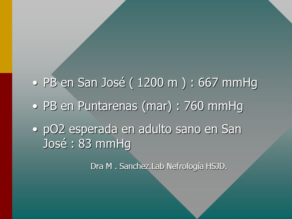 PB en Puntarenas (mar) : 760 mmHg