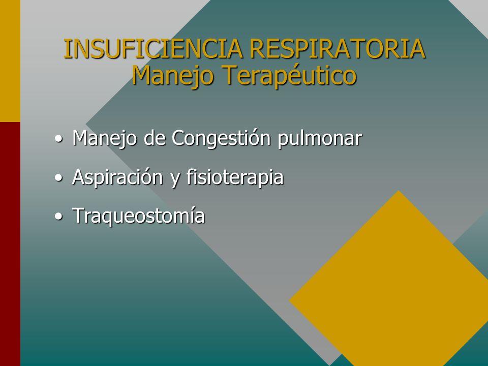 INSUFICIENCIA RESPIRATORIA Manejo Terapéutico