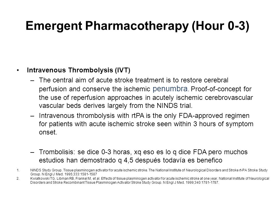 Emergent Pharmacotherapy (Hour 0-3)