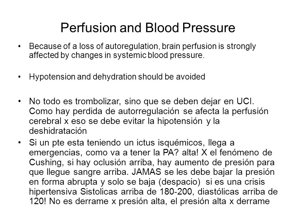 Perfusion and Blood Pressure