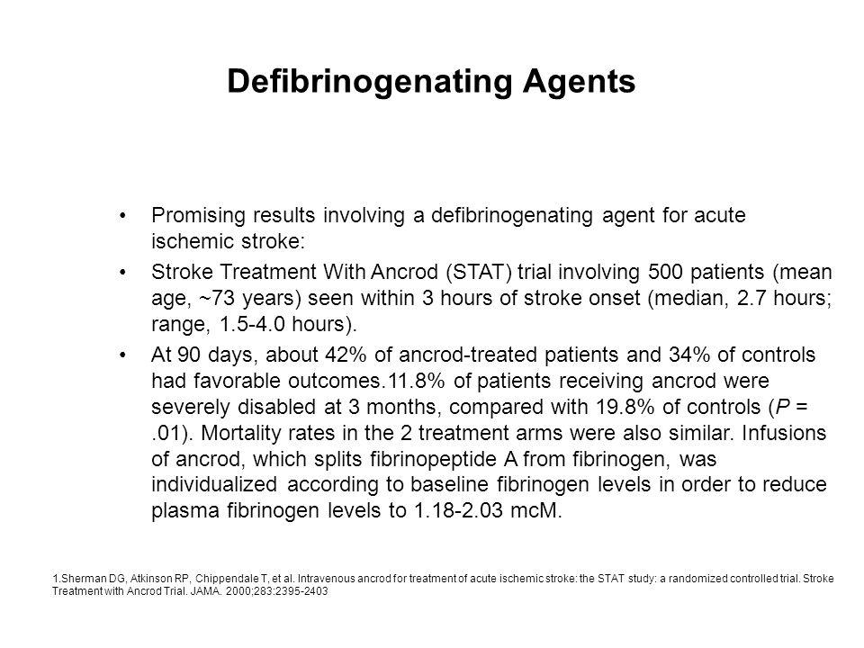 Defibrinogenating Agents
