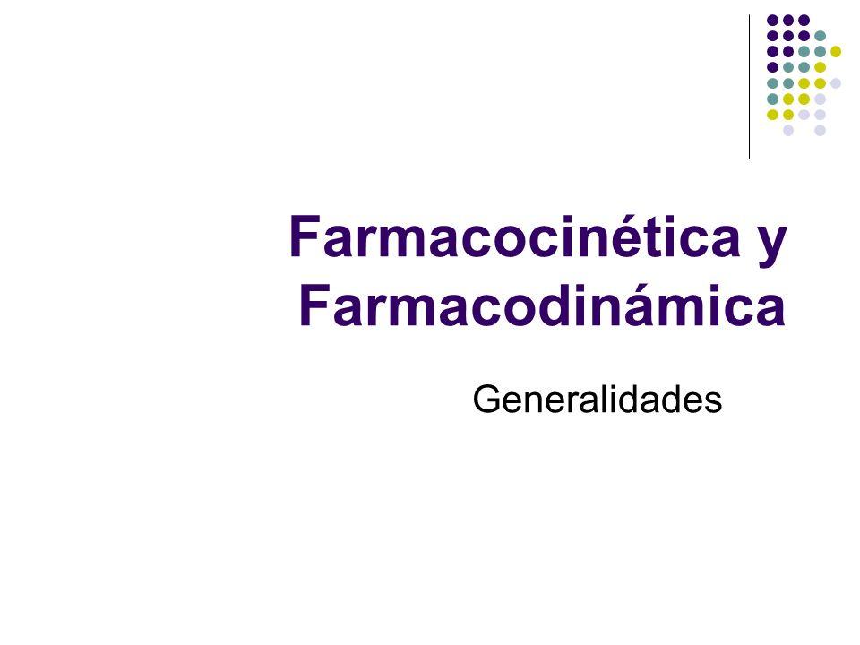 Farmacocinética y Farmacodinámica