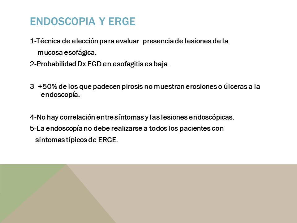 Endoscopia y ERGE