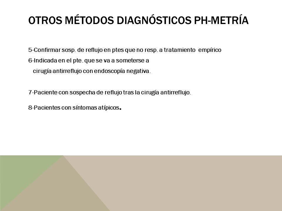 Otros métodos diagnósticos Ph-metría