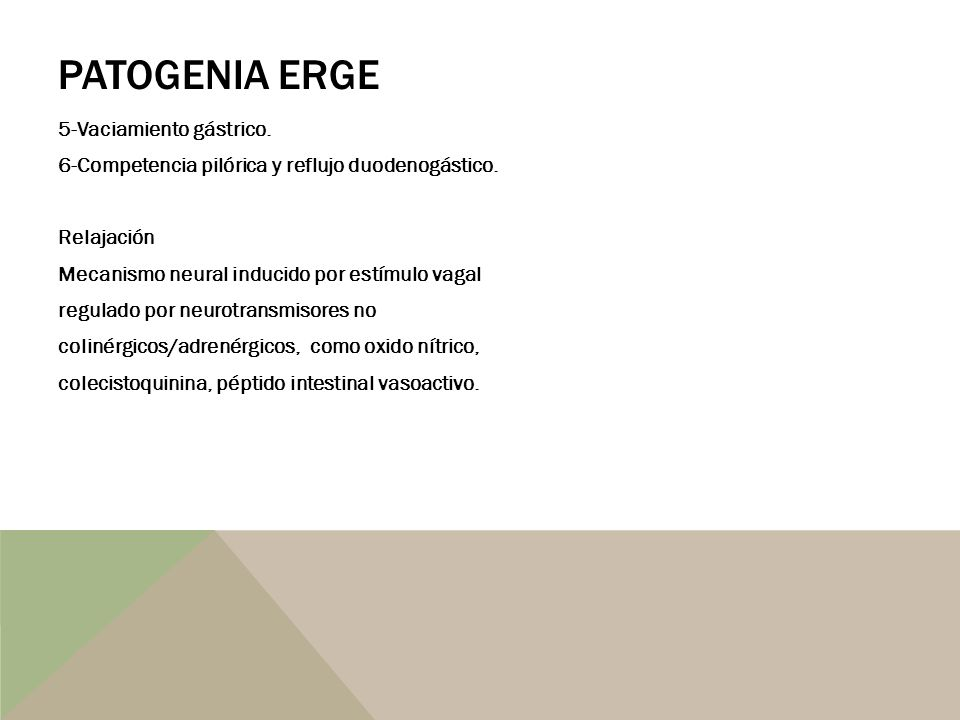 PATOGENIA ERGE