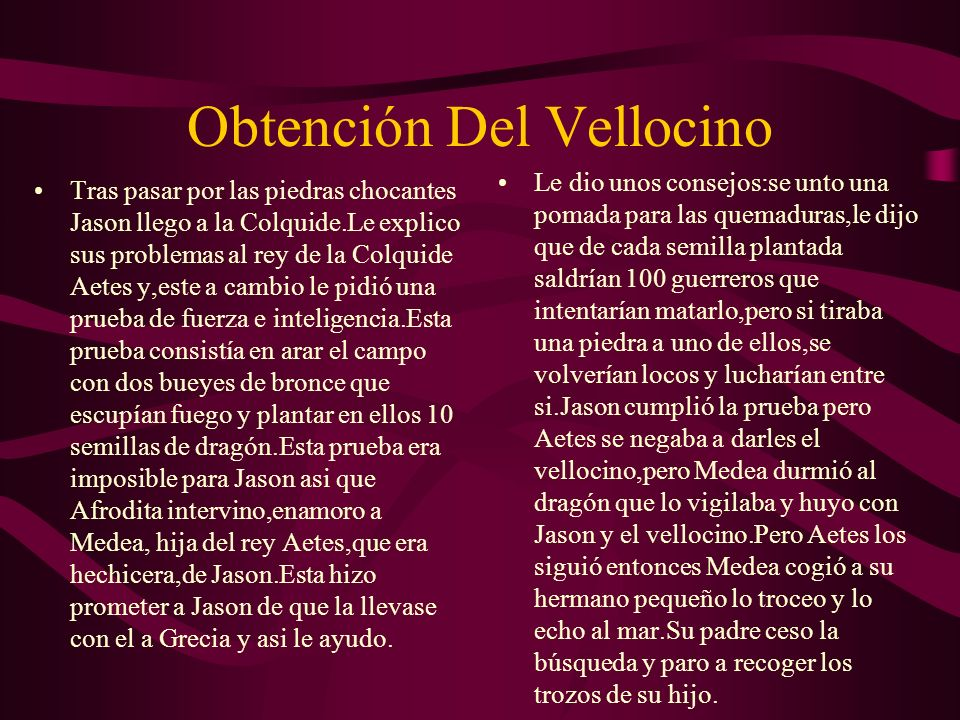 Obtención Del Vellocino