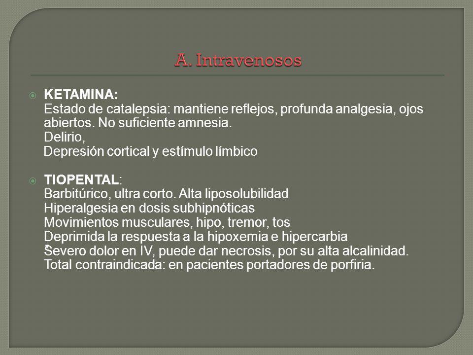 A. Intravenosos KETAMINA:
