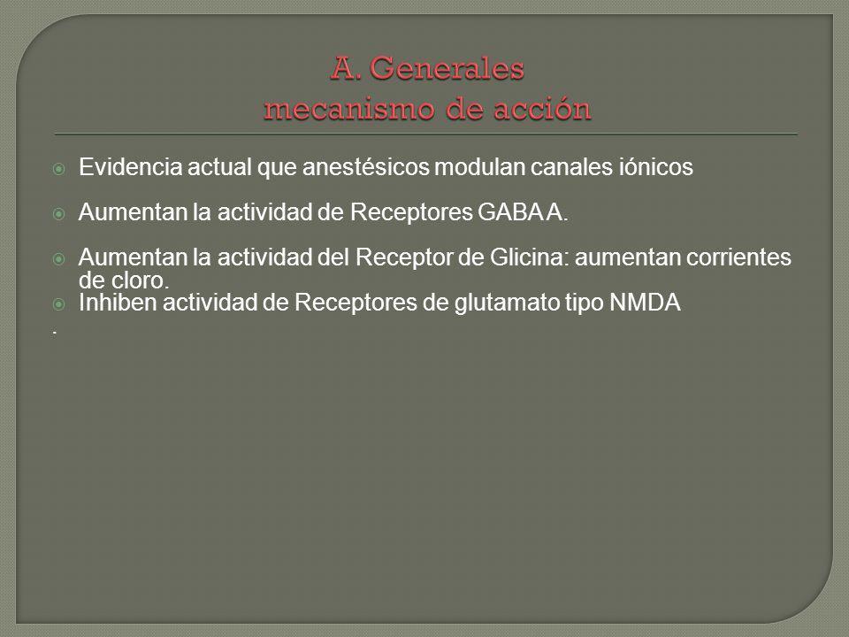 A. Generales mecanismo de acción