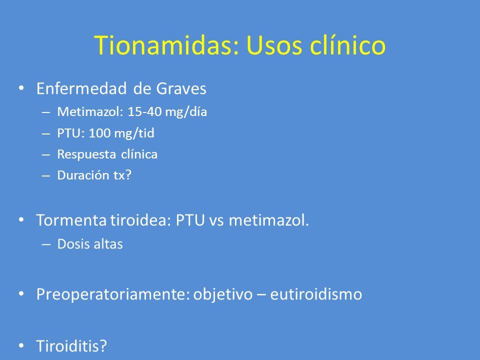 Tionamidas: Usos clínico
