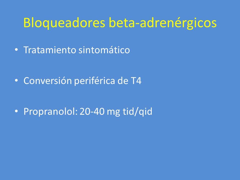 Bloqueadores beta-adrenérgicos