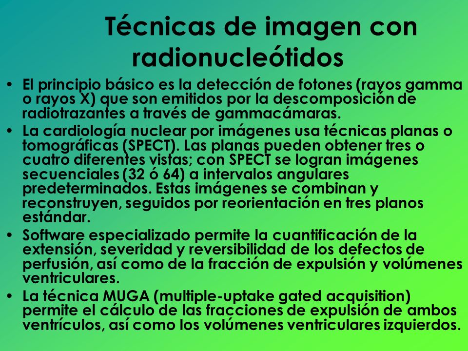 Técnicas de imagen con radionucleótidos
