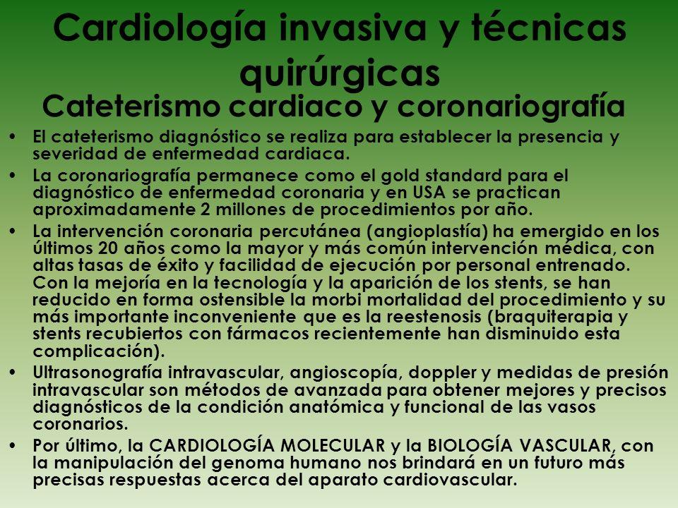 Cardiología invasiva y técnicas quirúrgicas
