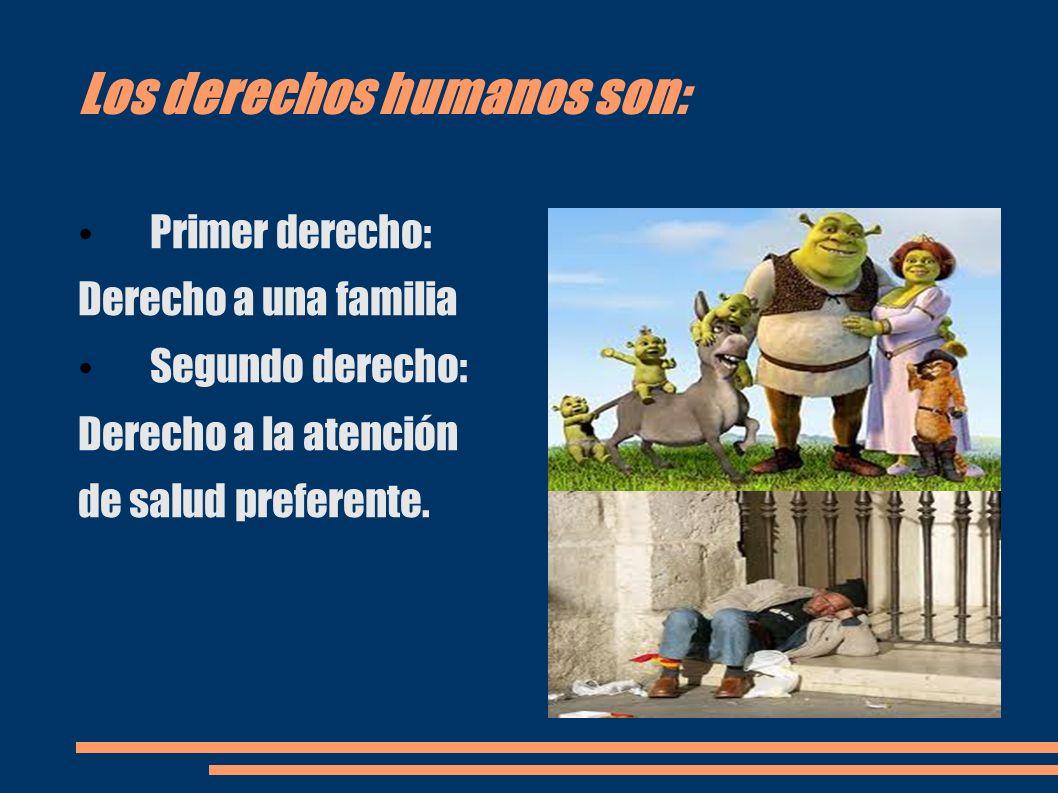 Los derechos humanos son: