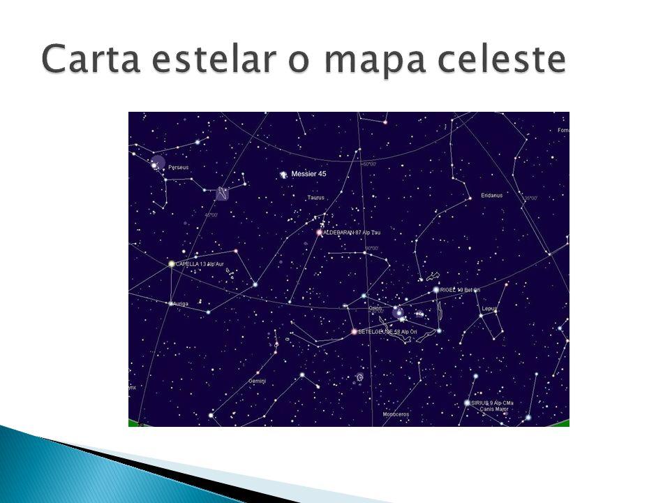 Carta estelar o mapa celeste