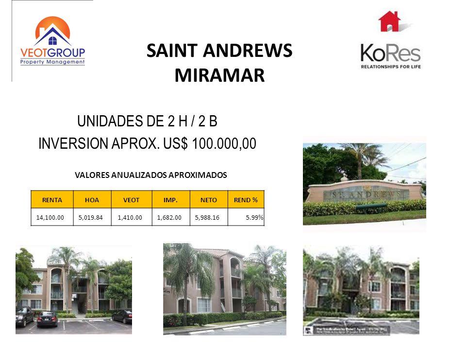 SAINT ANDREWS MIRAMAR UNIDADES DE 2 H / 2 B