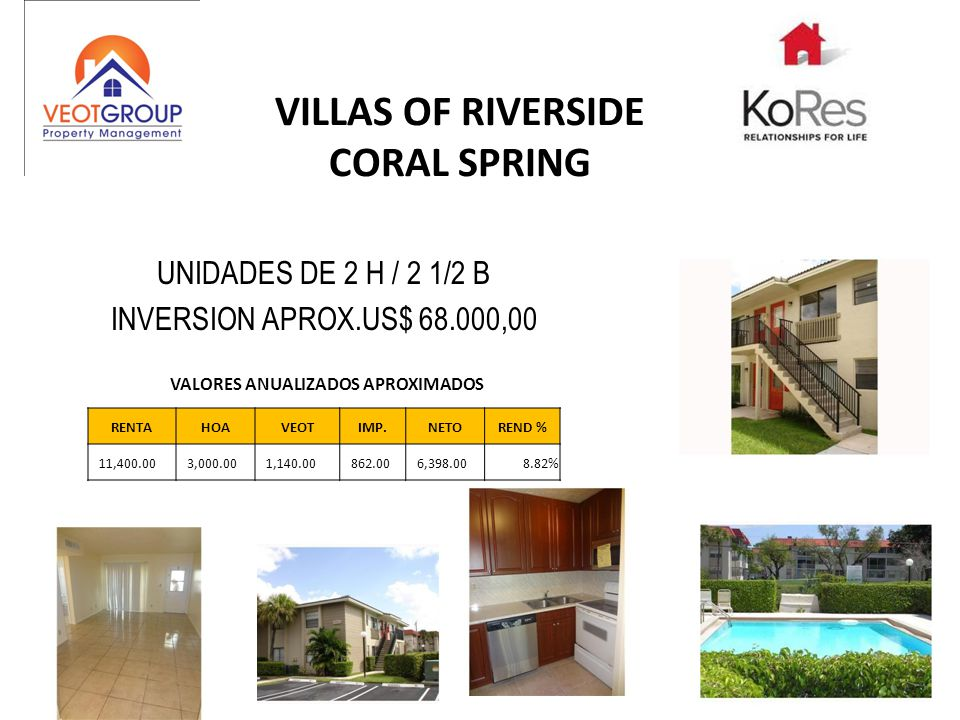 VILLAS OF RIVERSIDE CORAL SPRING