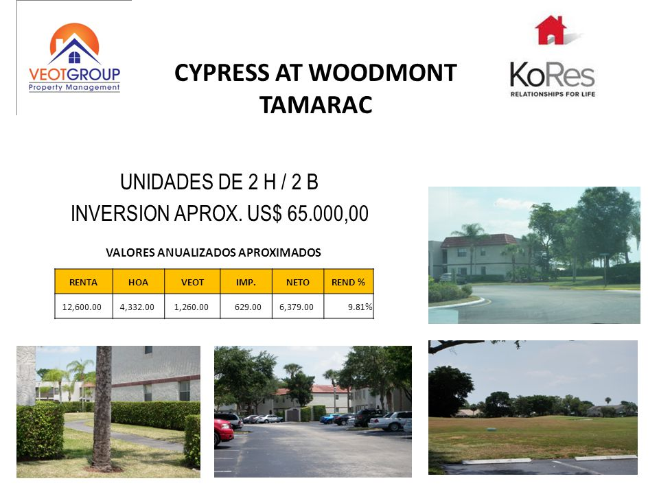 CYPRESS AT WOODMONT TAMARAC