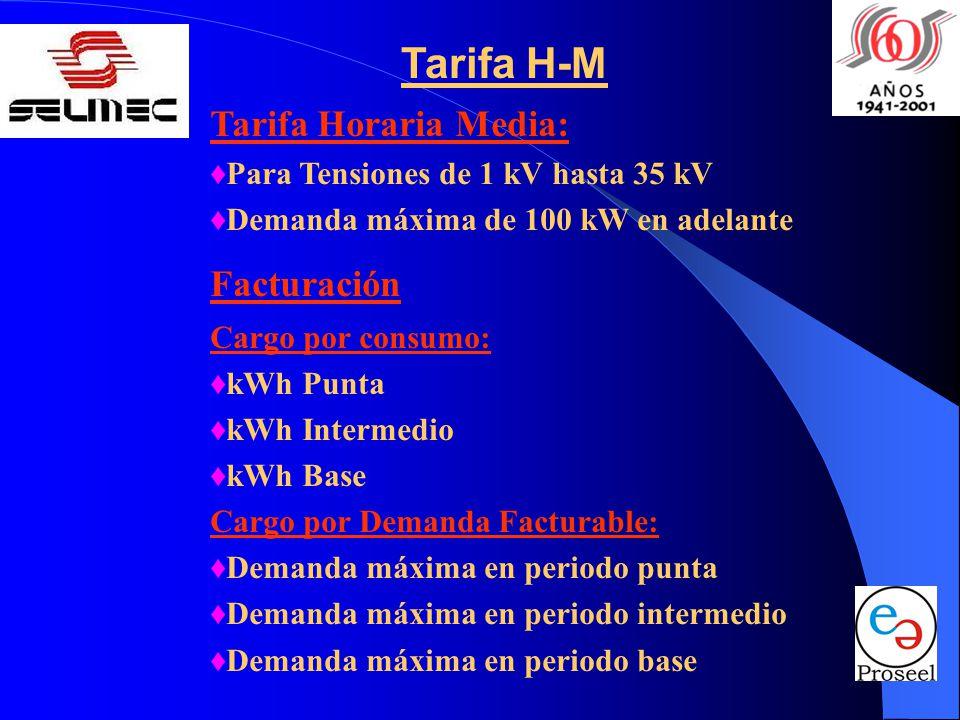 Tarifa H-M Tarifa Horaria Media: Facturación