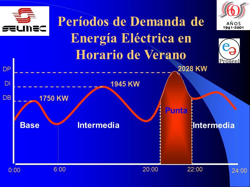 Períodos de Demanda de Energía Eléctrica en Horario de Verano