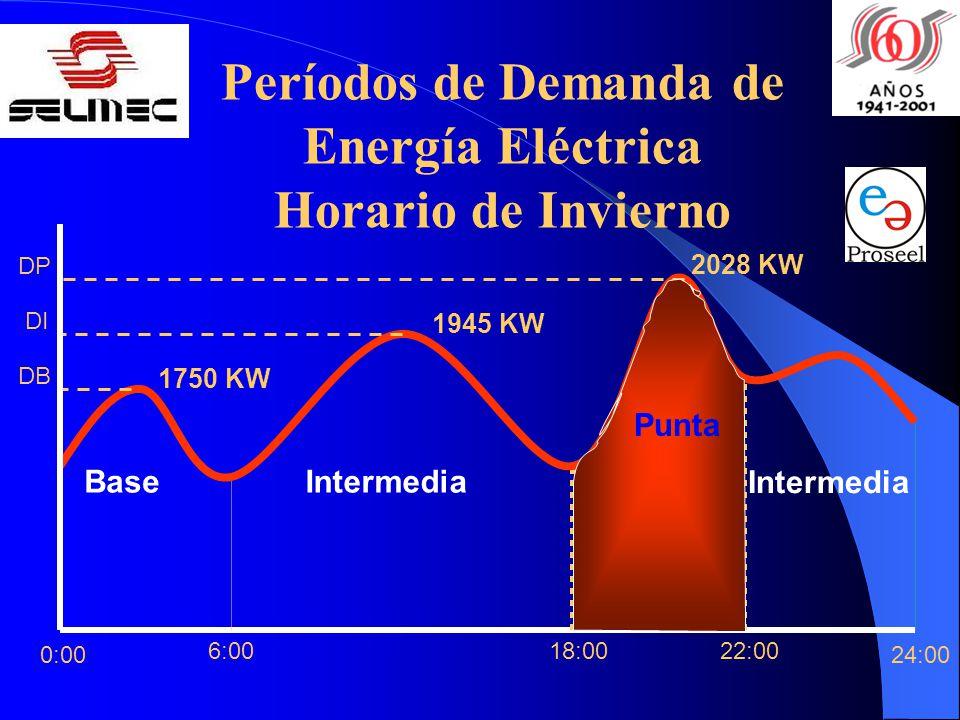Períodos de Demanda de Energía Eléctrica
