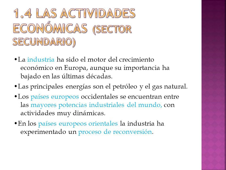 1.4 LAS ACTIVIDADES ECONÓMICAS (Sector secundario)