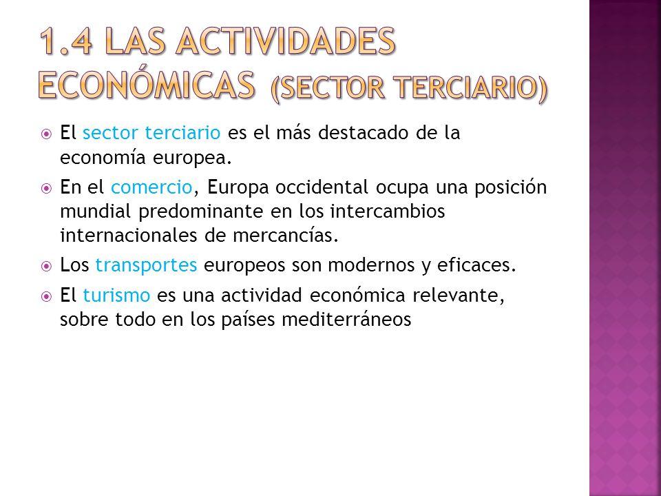 1.4 LAS ACTIVIDADES ECONÓMICAS (Sector terciario)