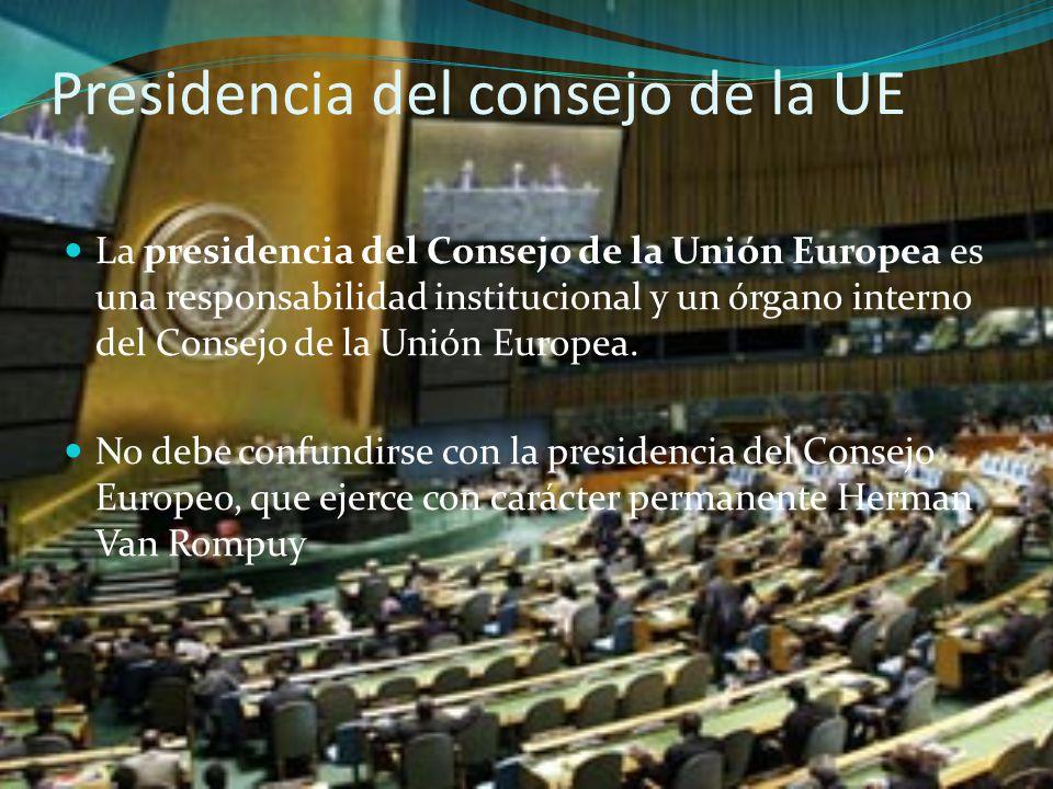 Presidencia del consejo de la UE