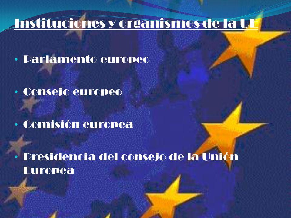 Instituciones y organismos de la UE