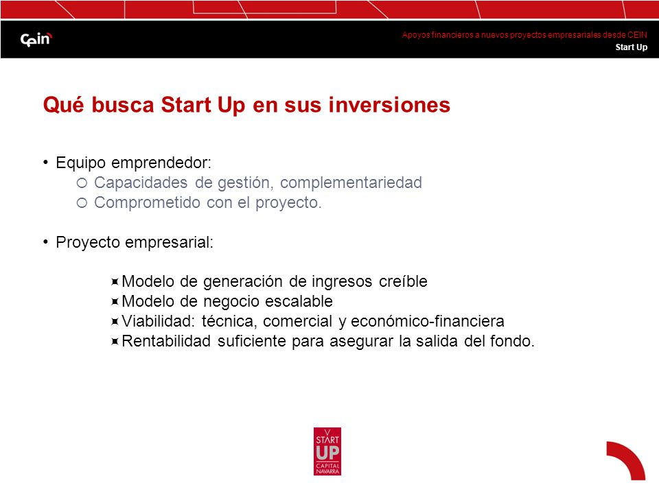Qué busca Start Up en sus inversiones