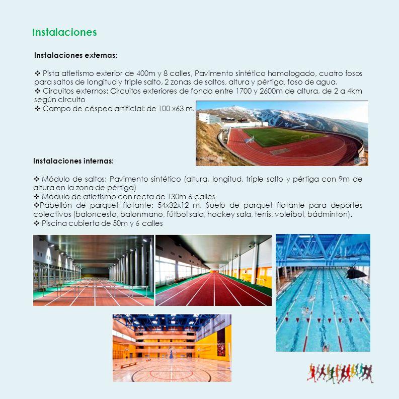 Instalaciones Instalaciones externas: