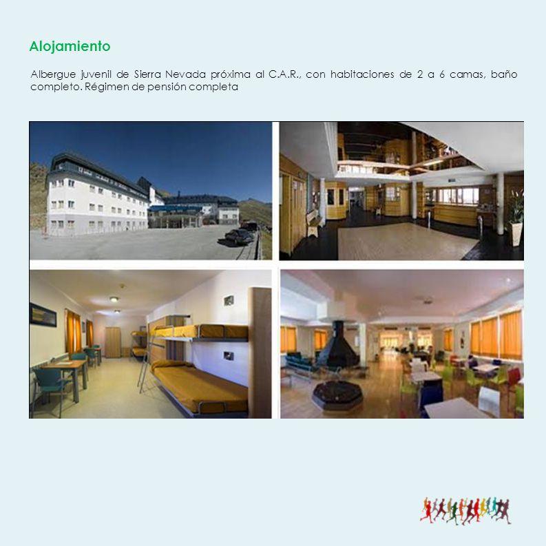 Alojamiento Albergue juvenil de Sierra Nevada próxima al C.A.R., con habitaciones de 2 a 6 camas, baño completo.