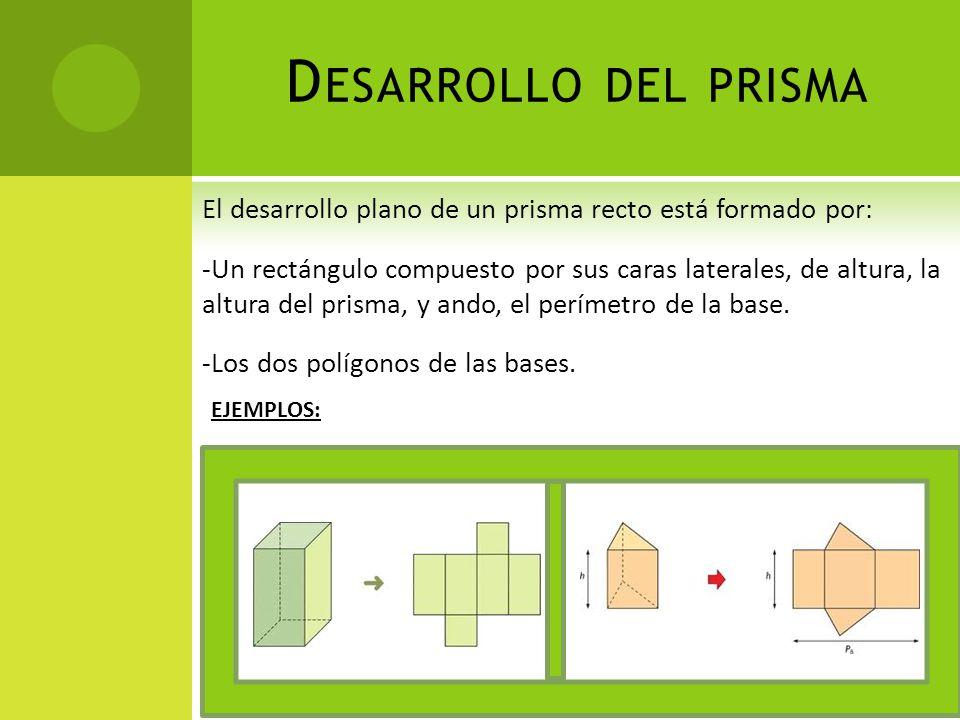 Desarrollo del prisma