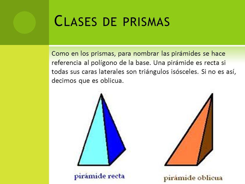 Clases de prismas