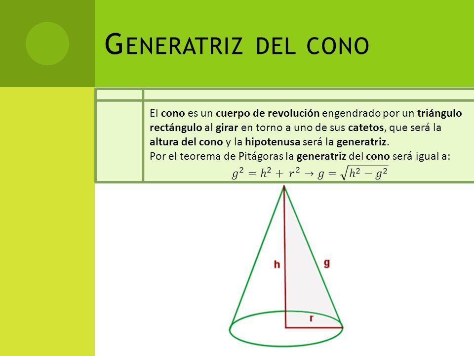 Generatriz del cono