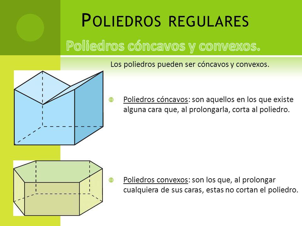 Poliedros cóncavos y convexos.