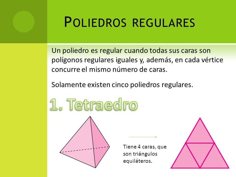 1. Tetraedro Poliedros regulares