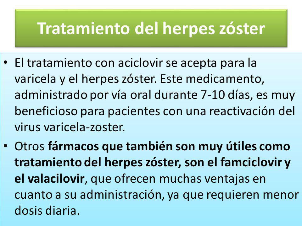 Tratamiento del herpes zóster