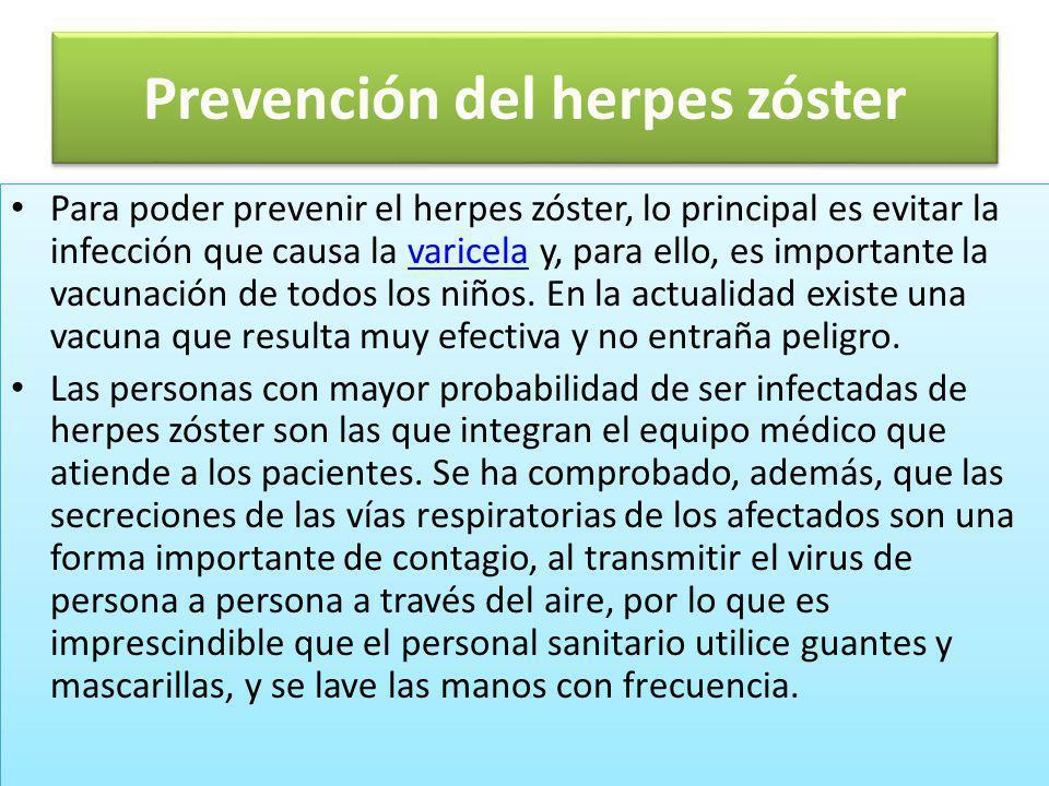 Prevención del herpes zóster