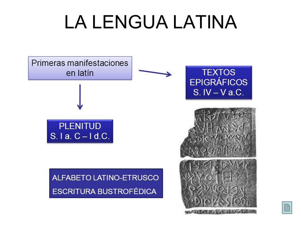 Primeras manifestaciones en latín