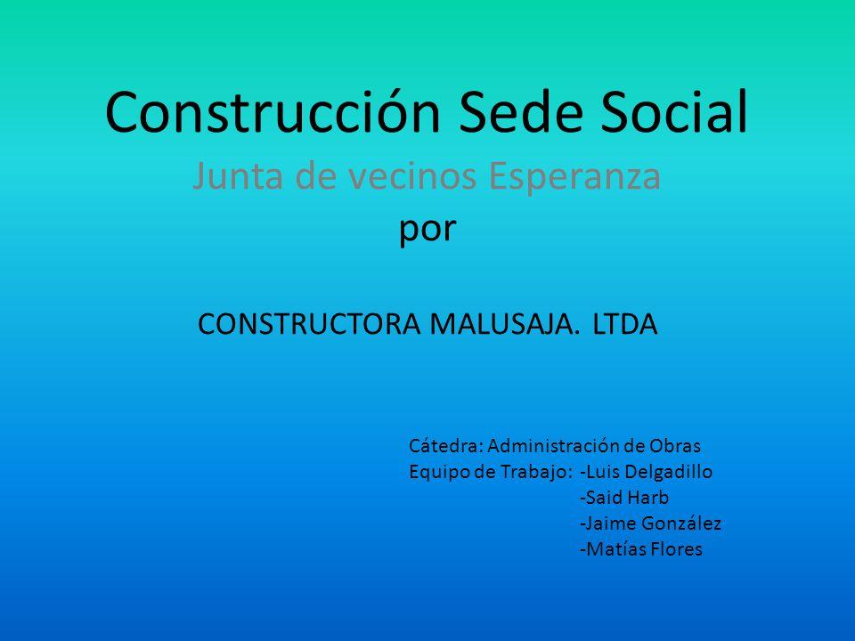 Construcción Sede Social Junta de vecinos Esperanza por CONSTRUCTORA MALUSAJA. LTDA
