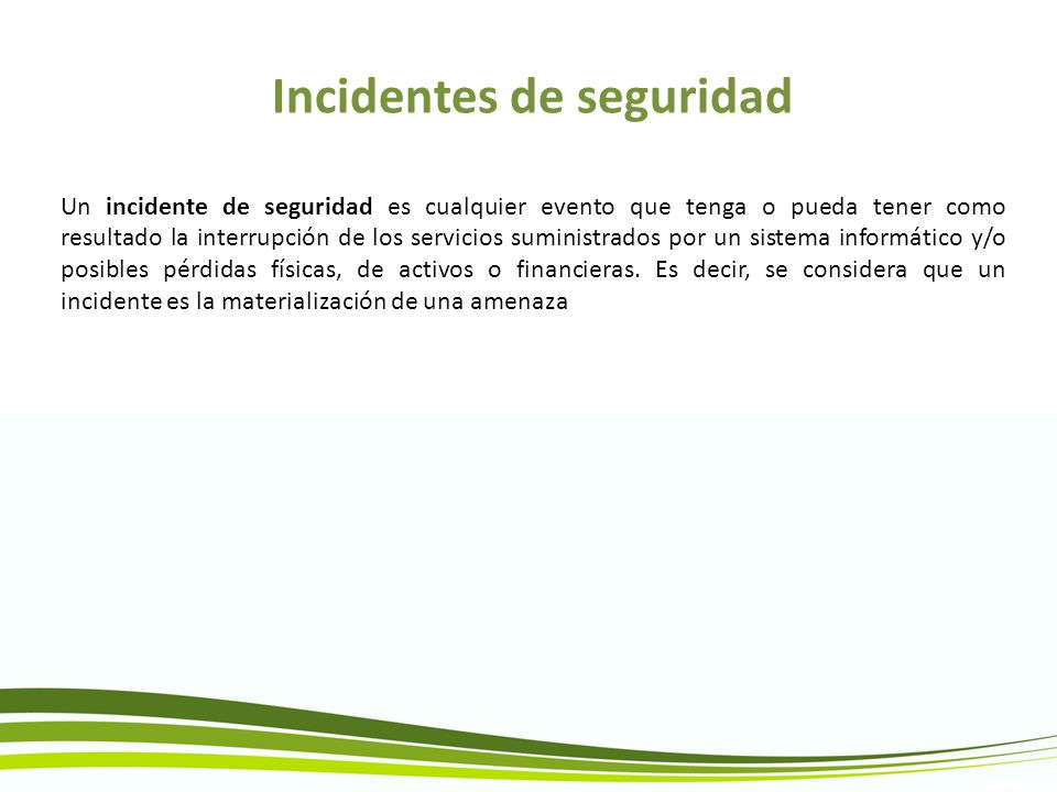 Incidentes de seguridad