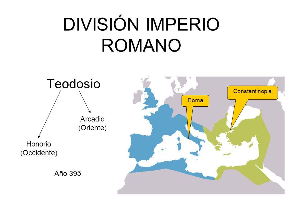 DIVISIÓN IMPERIO ROMANO